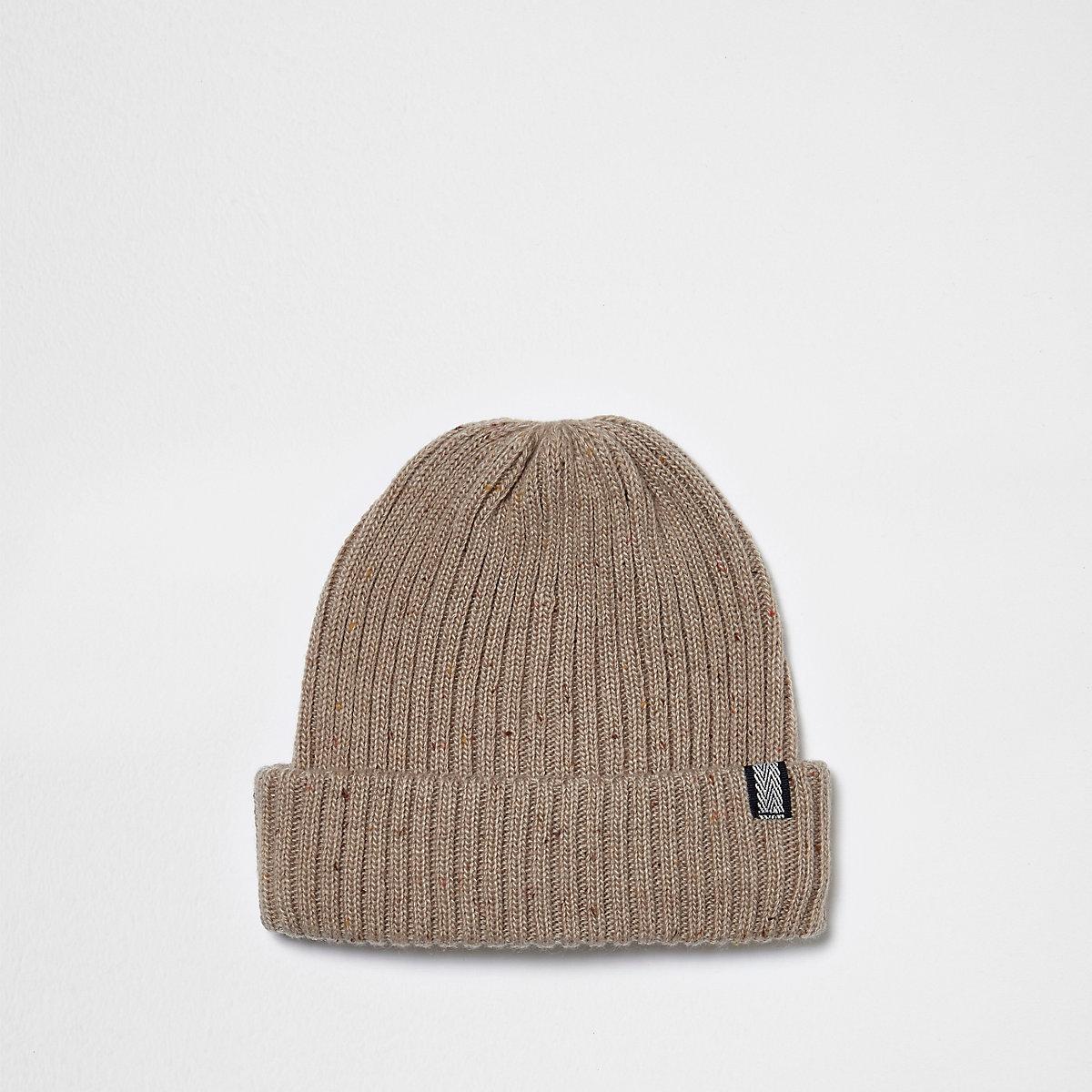 Stone fisherman beanie hat