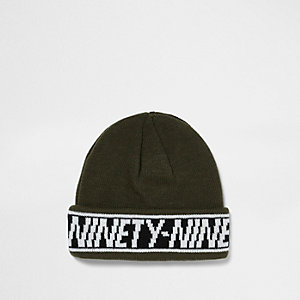 "Beanie ""Ninety Nine"" in Khaki"