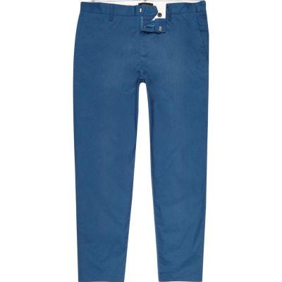 River Island Pantalon chino slim bleu longueur cheville