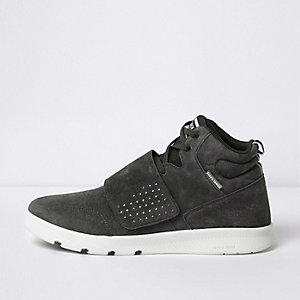 Grey Jack & Jones suede velcro tab trainers