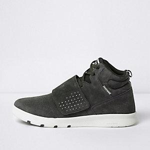 Grey Jack & Jones suede velcro tab sneakers