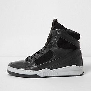Jack & Jones – Schwarze hohe Sneaker