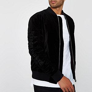 Black Jack & Jones velvet bomber jacket