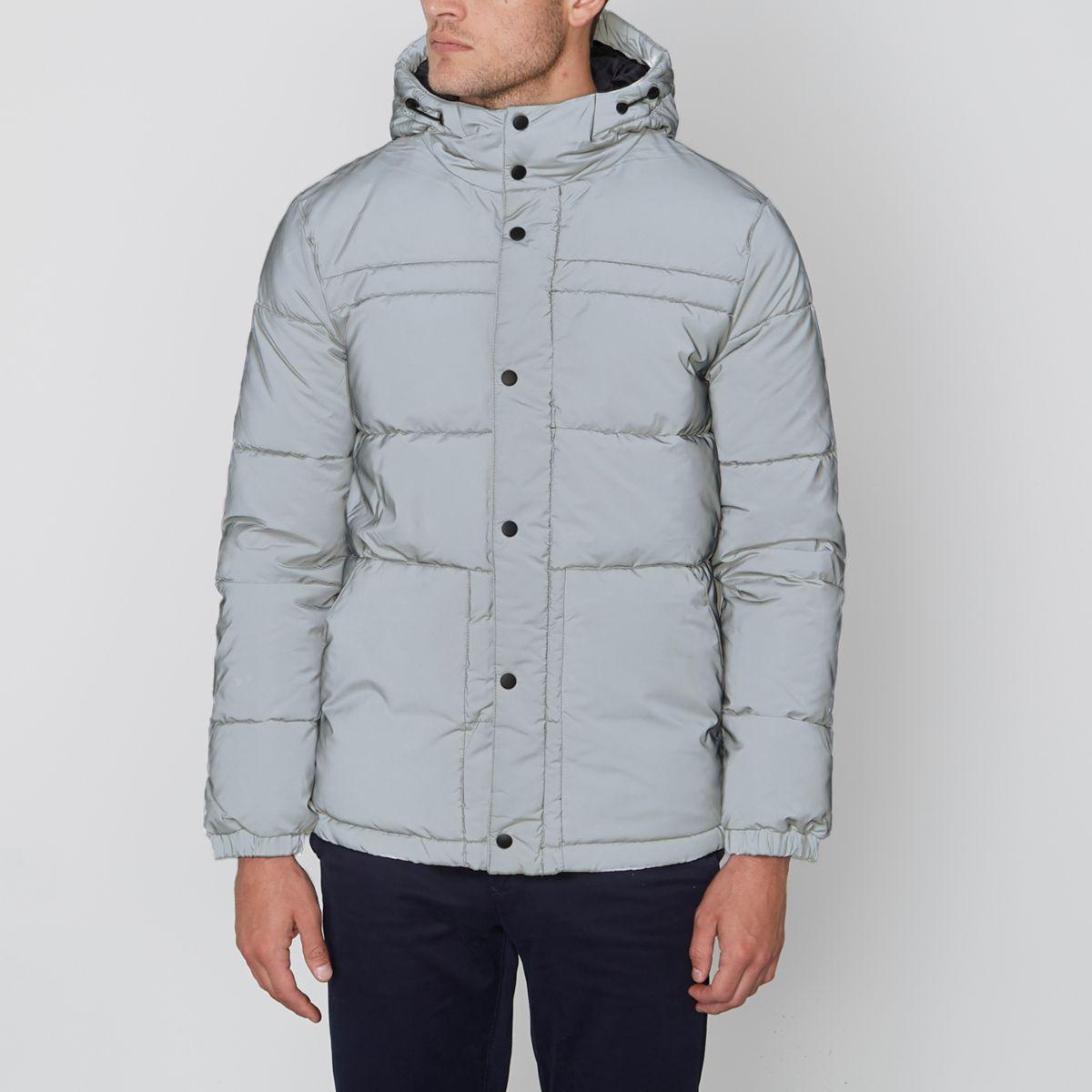 Grey Jack & Jones Core reflective jacket