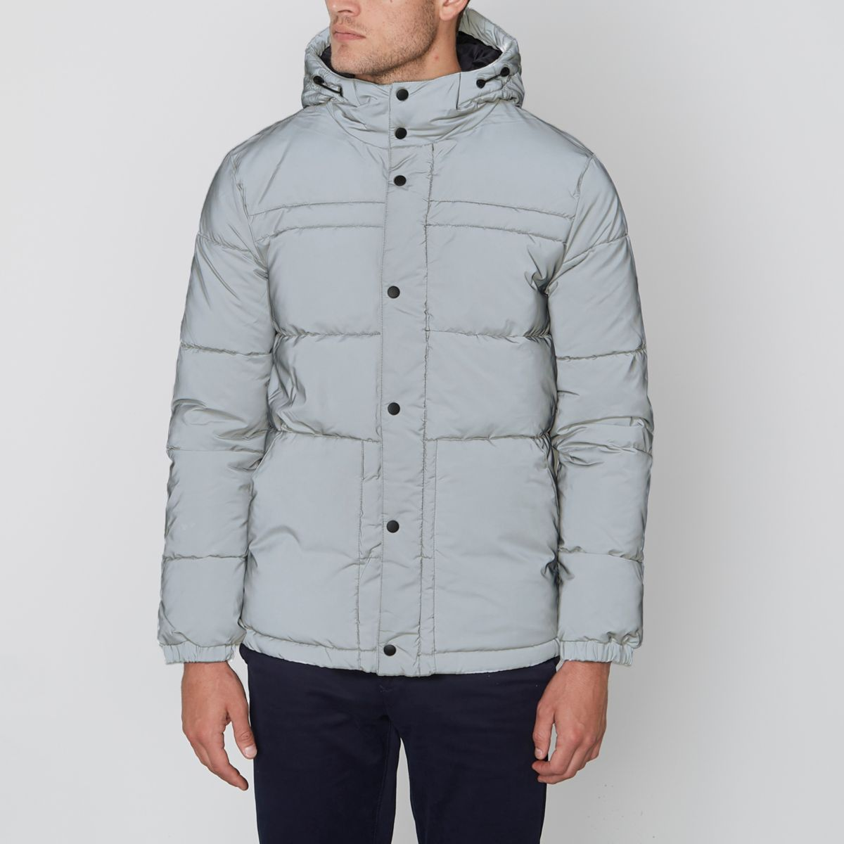 Jack & Jones Core grey reflective jacket