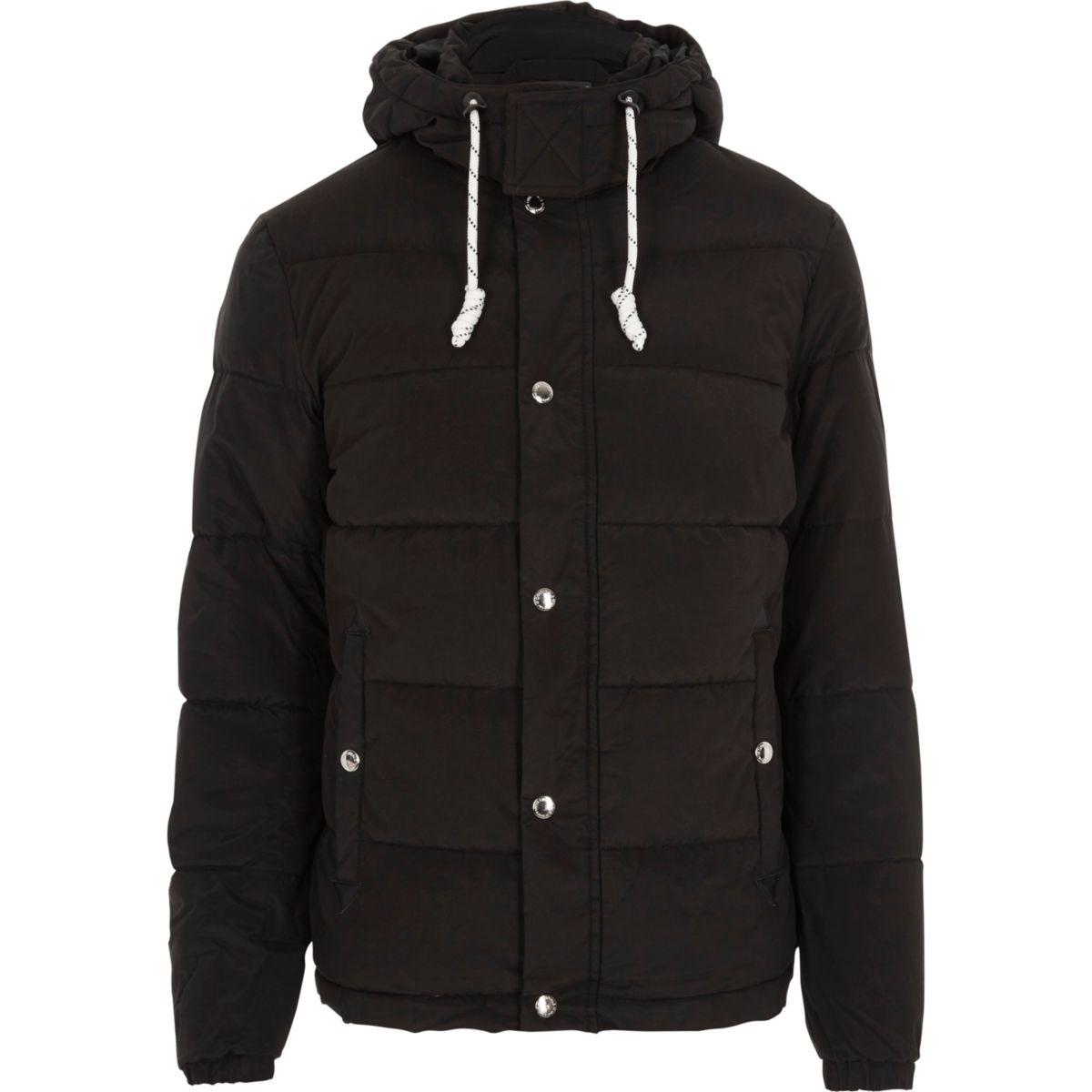 Black Jack & Jones hooded puffer jacket