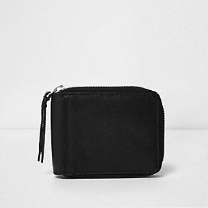 Portefeuille noir zippé 3 côtés