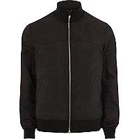 Black funnel neck bomber jacket
