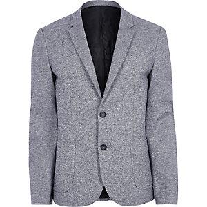 Lichtblauwe skinny-fit space-dye blazer