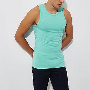 Aquablauw aansluitend hemd