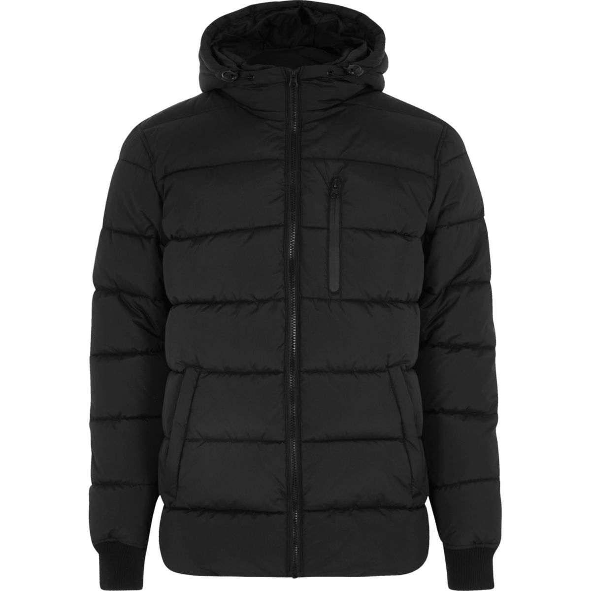 Black hooded puffer jacket - Jackets - Coats & Jackets - men