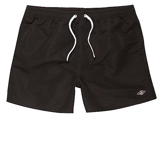Black swim trunks