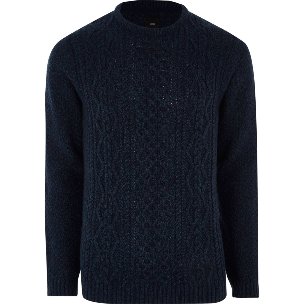 Navy cable knit sweater - Sweaters - Sweaters & Cardigans - men