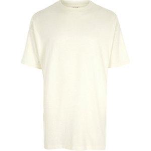 Cream short sleeve oversized T-shirt