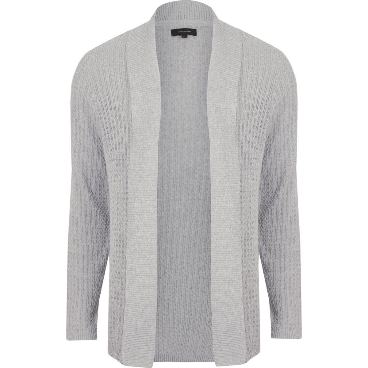 Grey cable knit open front cardigan - Sweaters & Cardigans - Sale ...