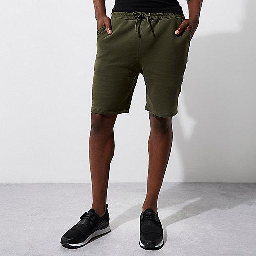 Dark green jersey shorts
