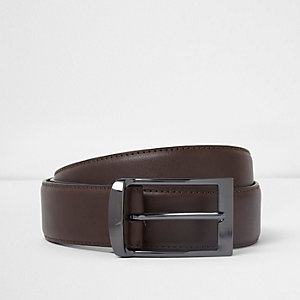 Brown curve buckle belt