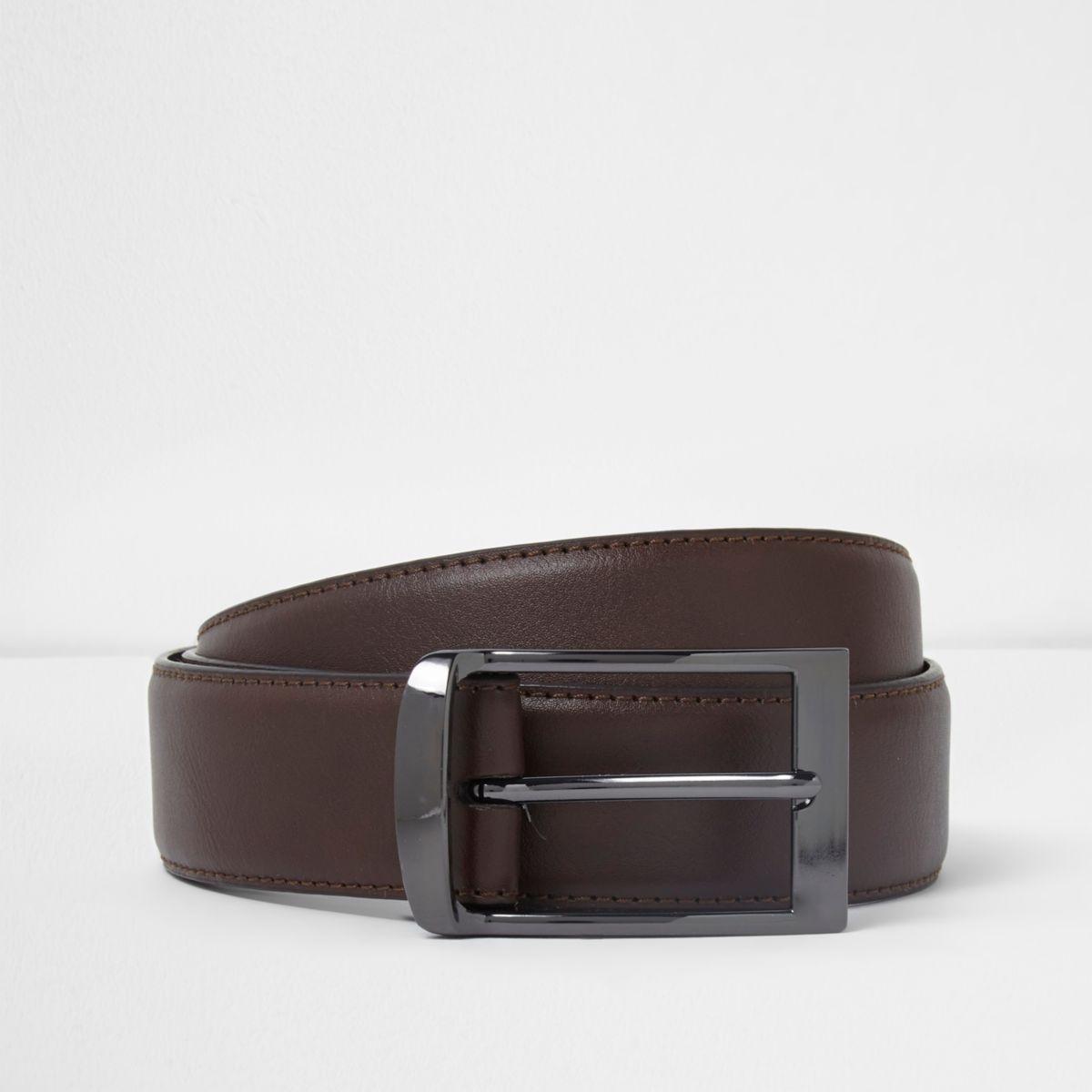Brown curve buckle belt