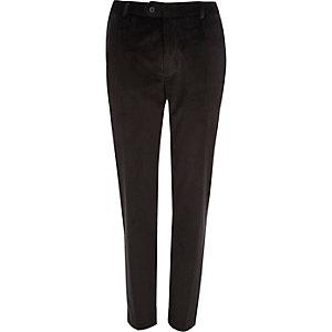 Zwarte nette fluwelen skinny-fit broek