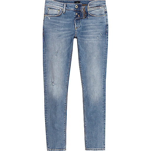 Light blue Sid distressed skinny jeans