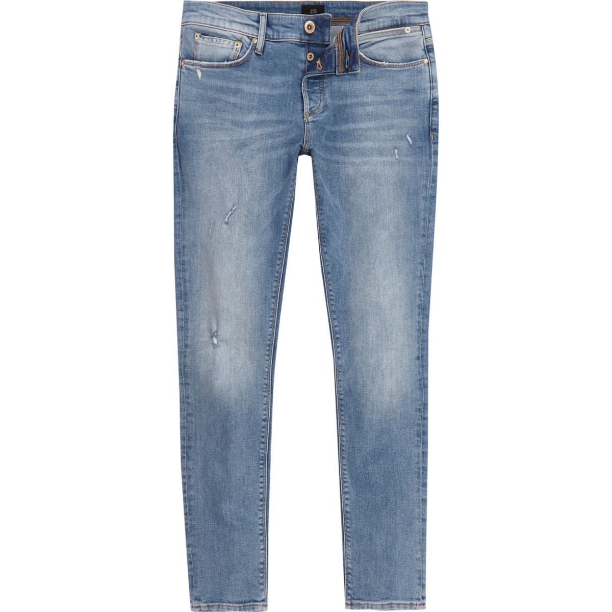 Light blue Sid distressed skinny jeans