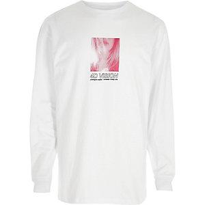 T-shirt large «4D vision» blanc à manches longues
