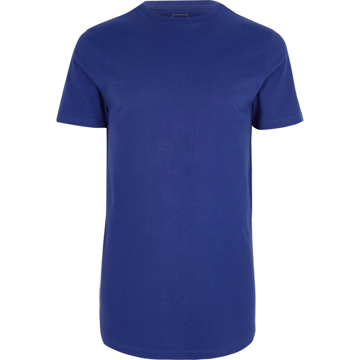 Royal blue longline crew neck T-shirt