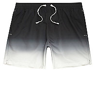 Black dip dye swim trunks