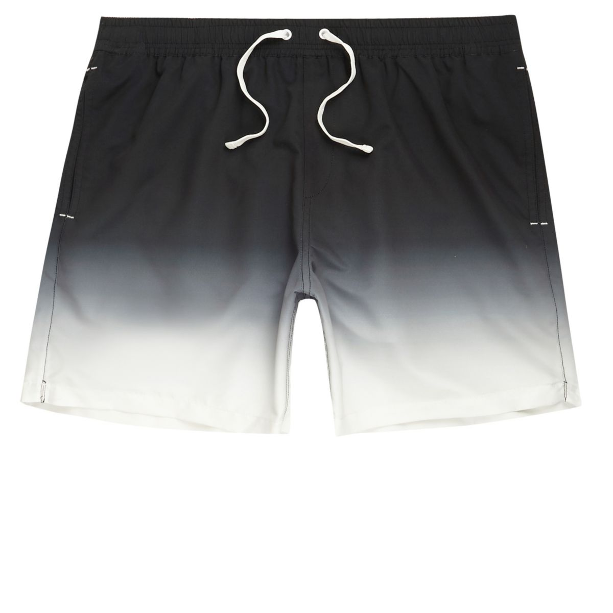Mens Black dip dye swim shorts River Island Low Shipping Cheap Price Ebay Sale Online New Arrival Online Cheap Wiki Buy Cheap Best Wholesale jtglb3