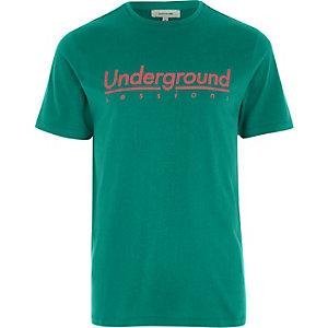T-shirt slim « Underground sessions » vert