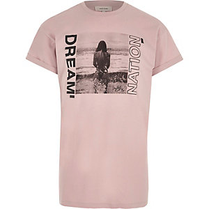 Pink 'dream nation' photograph print T-shirt