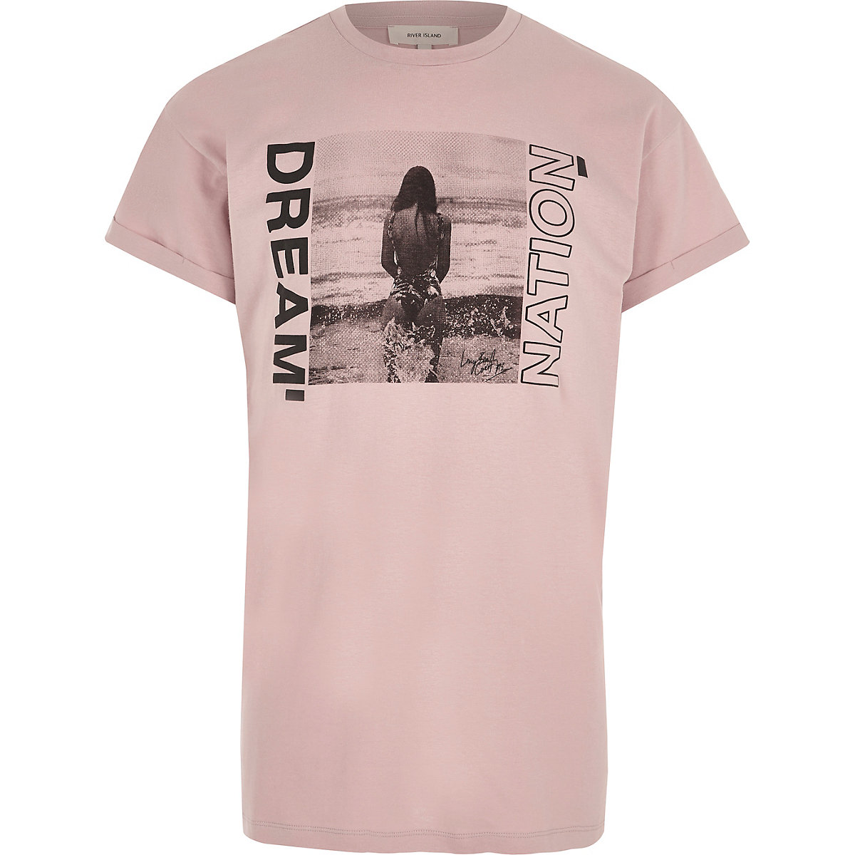 Pink 'dream nation' photograph print T-shirt