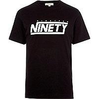 Black 'ninety' print slim fit T-shirt