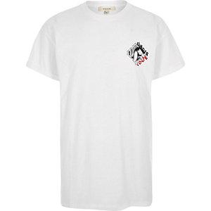 White 'undercover' print crew neck T-shirt