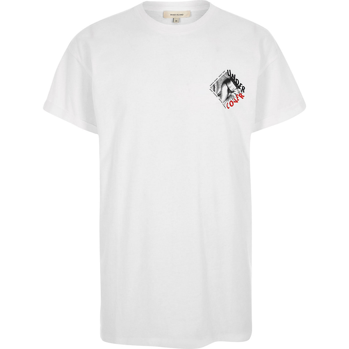 White 'undercover' print crew neck T-shirt