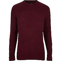 Big and Tall red crew neck jumper