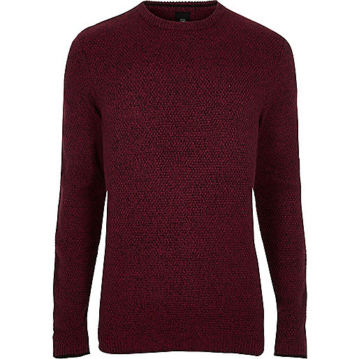 Big and Tall red crew neck sweater