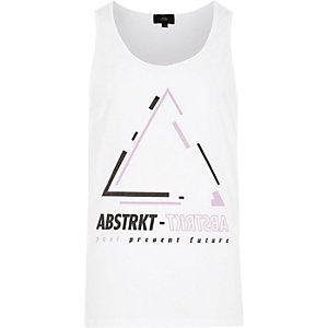 White 'Abtstrkt' print tank