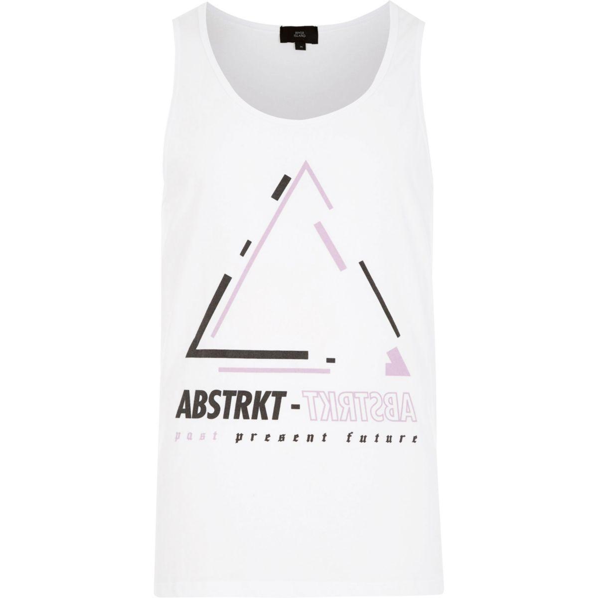White 'Abtstrkt' print vest
