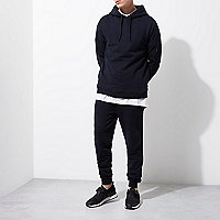 Pantalon de jogging en jersey bleu marine