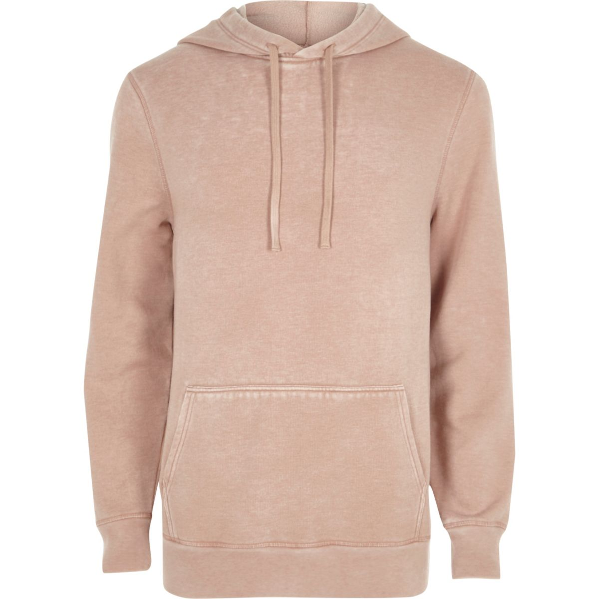 Pink burnout hoodie