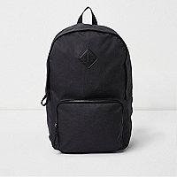 Black front zip pocket backpack
