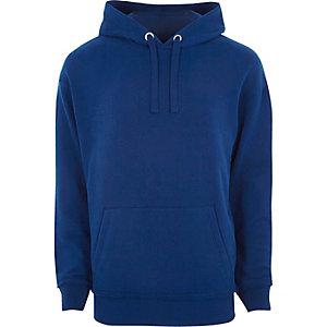 Sweat à capuche bleu ample