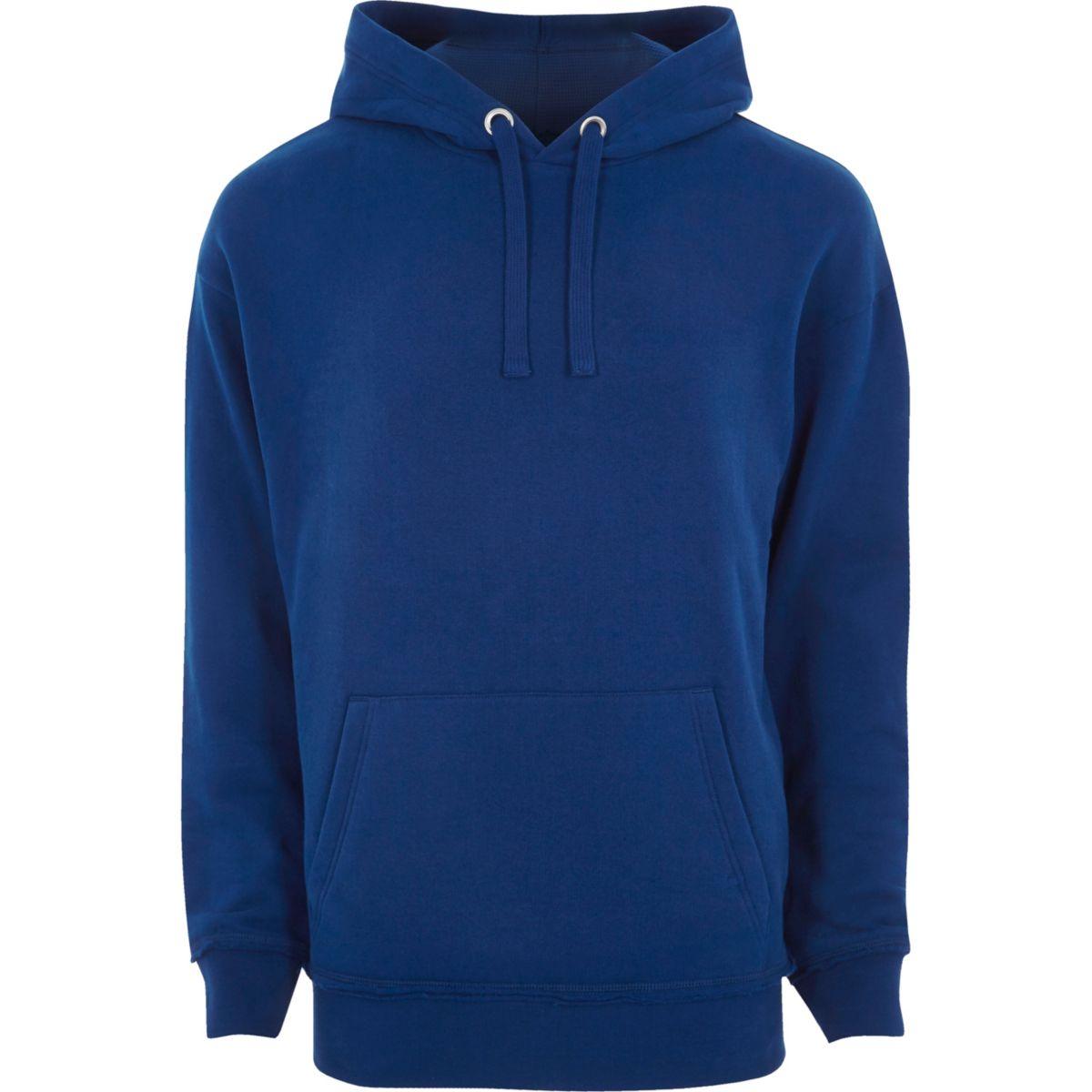 Blue slouch hoodie