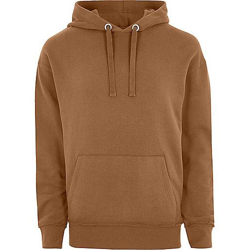 Brown slouch hoodie