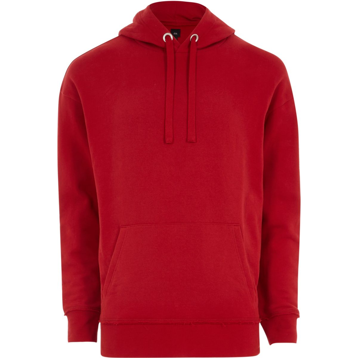 Red oversized fit hoodie