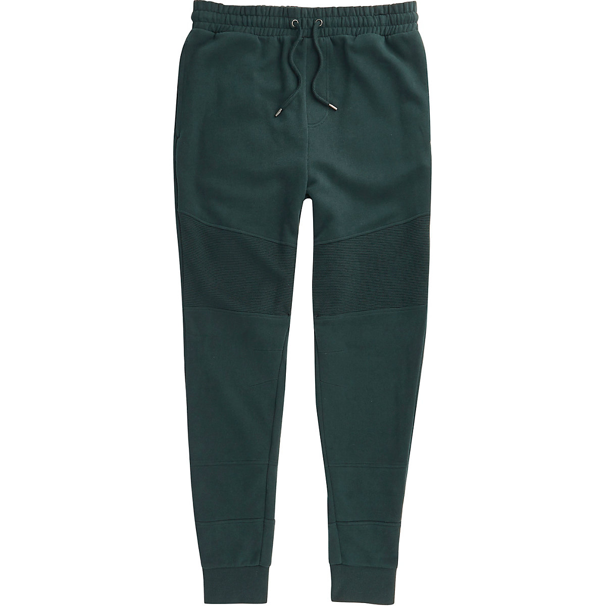 Dark green muscle fit joggers