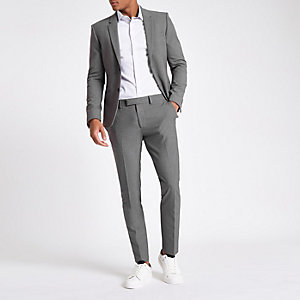 Pantalon de costume super skinny gris