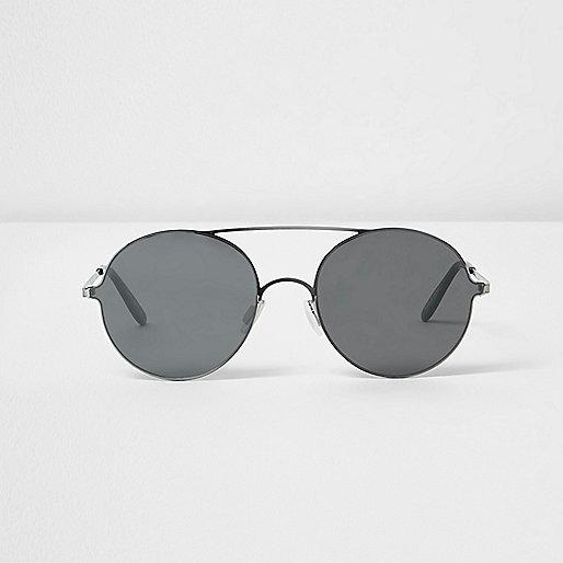 graue runde sonnenbrille runde sonnenbrillen. Black Bedroom Furniture Sets. Home Design Ideas