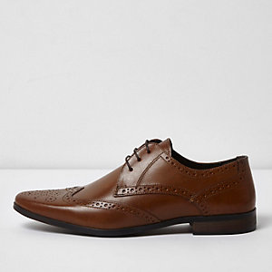 Tan leather brogues